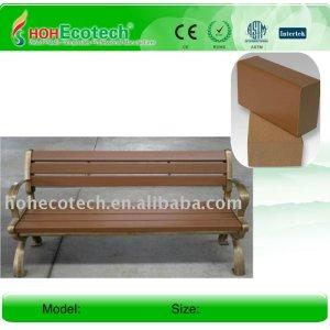Impermeable al aire libre de madera/banco de madera de madera compuesto de plástico banco/sillas