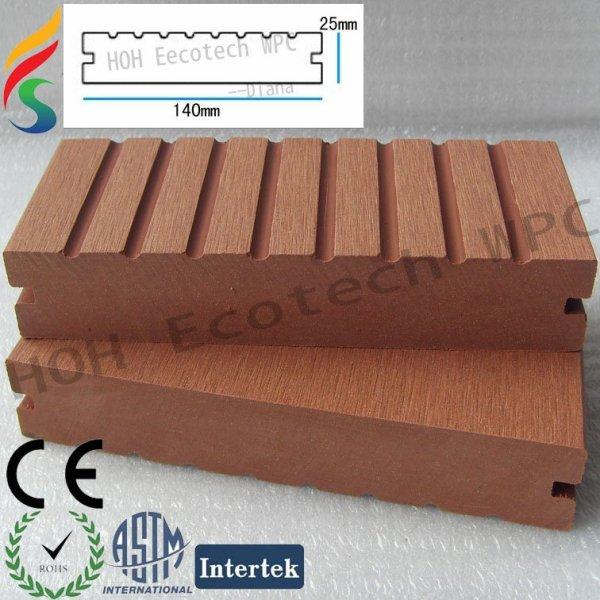 WPC Decking-Fußboden-Im Freiengebrauch
