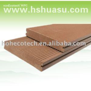 calidad buena y sólida decking del wpc piso compuesto de piso