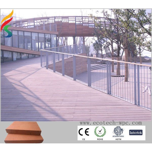 plancher réutilisé de composé de wpc de HDPE
