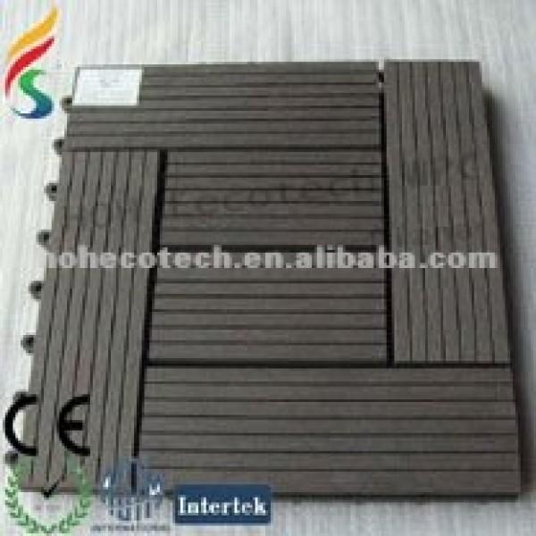Azulejo wpc al aire libre azulejo/decking compuesto/de madera de plástico diy azulejo