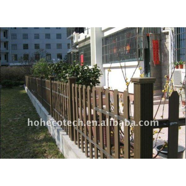 Compuesto plástico de madera wpc esgrima/alrededor de barandilla residencial compuesto de barandilla
