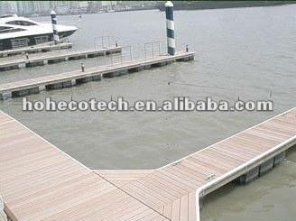 Bois de construction composé en plastique en bois de decking de tuile composée amicale de plate-forme d'Eco de qualité/de decking wpc de plancher