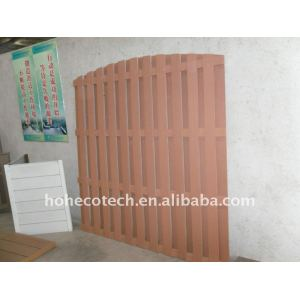 Imperméabilisez le wpc extérieur de barrière clôturant la barrière composée en plastique en bois en bois de balustrade de clôture/wpc de jardin