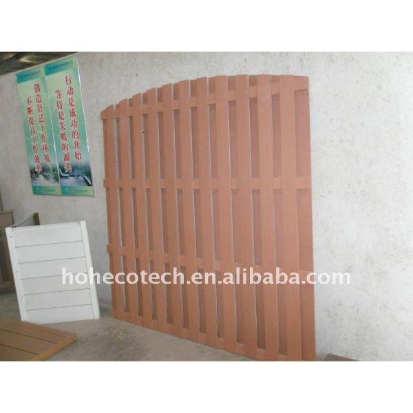 Impermeable al aire libre cerca de esgrima wpc compuesto plástico de madera de esgrima jardín/barandilla wpc valla de madera