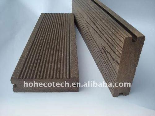 surface de ponçage naturel et le point plancher decking de wpc