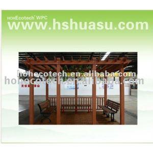 hölzernes zusammengesetztes Sommerplastikhaus des guten Entwurfs