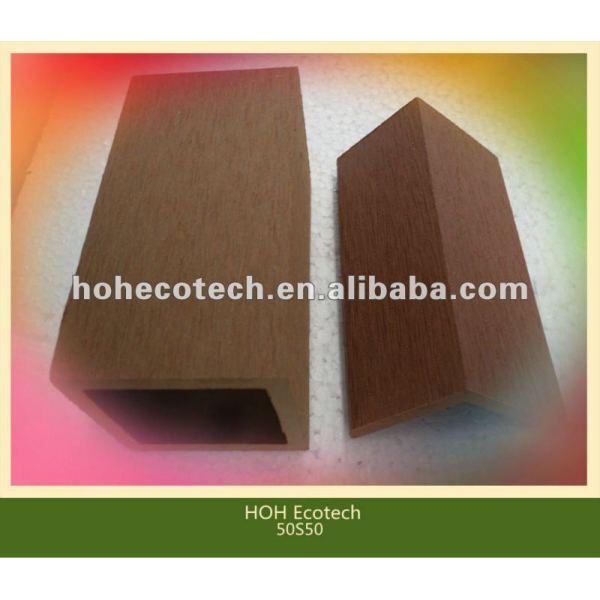 Accessoire respectueux de l'environnement de decking de wpc de vente chaude durable (preuve de l'eau, résistance UV, résistance à se décomposer et fente)