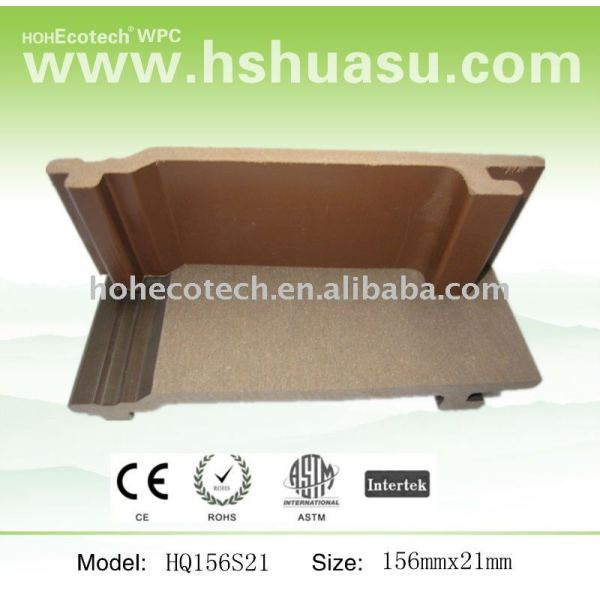 Solide holz-kunststoff-verbundwerkstoff wpc wandpaneel