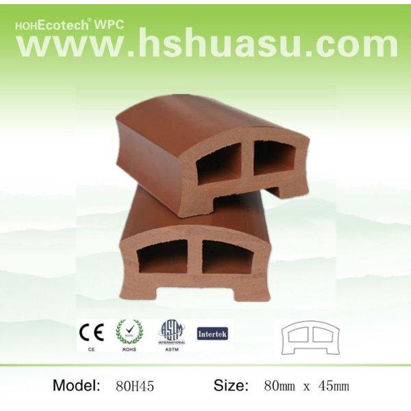 Eco - ambiente compuesto plástico de madera del puente pasamanos