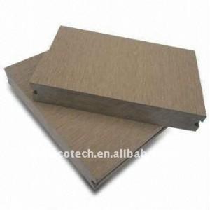 Suelo al aire libre decoración! Plástico de madera wpc decking compuesto/suelo