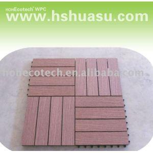 La venta caliente! Eco - ambiente de plástico de madera decking compuesto/azulejo de piso