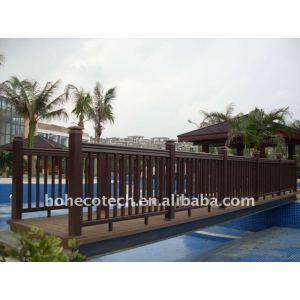 garantia de qualidade wpc corrimão da ponte impermeável ponte dos trilhos de madeira composto plástico corrimão da escada