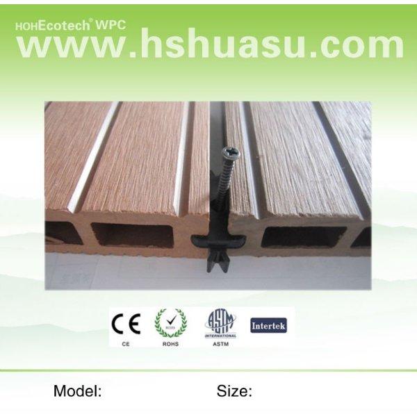 decking en bois en plastique d'anti corrosion