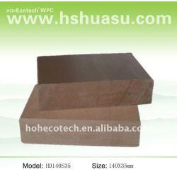 WPC hölzerne zusammengesetzte Decking-/Bodenbelag 140*35mm (CER, ROHS, ASTM, ISO 9001, ISO 14001, Intertek) wpc Deckingplastikzusammensetzung
