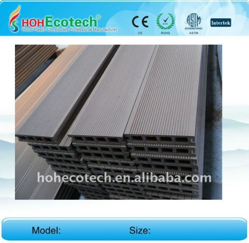 Decking composé en plastique en bois foncé du gris WPC/plate-forme en bois wpc du plancher 140*30mm (CE, ROHS, ASTM, OIN 9001, OIN 14001, Intertek)