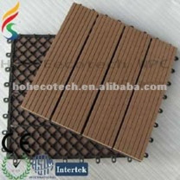 Wpc cubiertas y terraza/sensación natural decking del wpc tableros/eco- ambiente compuesto plástico de madera de caoba