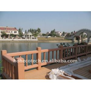 Balustrade composée en plastique en bois d'escalier de balustrade imperméable à l'eau de pont de balustrade de pont de wpc de garantie de qualité