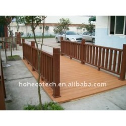 Outdoor weatherproof Square /ground wood plastic composite wpc bench/railing/post wpc fencing