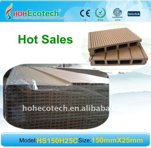 ( ce, rohscertificat, astm., iso9001, iso14001, intertek ) en plastique en bois composite decking de wpc platelage wpc plancher extérieur