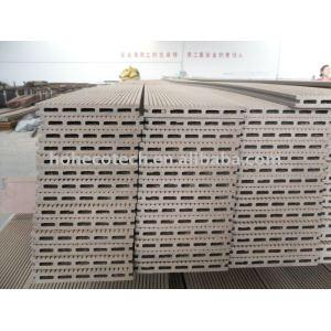 führte die Qualitäts-ISO9001 und ISO14001 GARANTIE Holz-PlastikzusammensetzungenWPC Deckingbrett