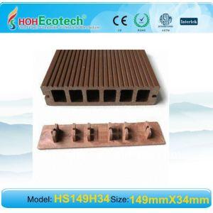 A prueba de agua de plástico de madera decking compuesto/suelo al aire libre wpc decking compuesto con el clip/accesorios wpc suelo