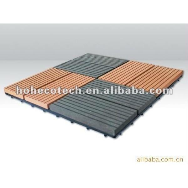 Tablero diy compuesto plástico de madera del azulejo de la venta caliente durable (prueba del agua, resistencia ULTRAVIOLETA, resistencia a descomponerse y grieta)
