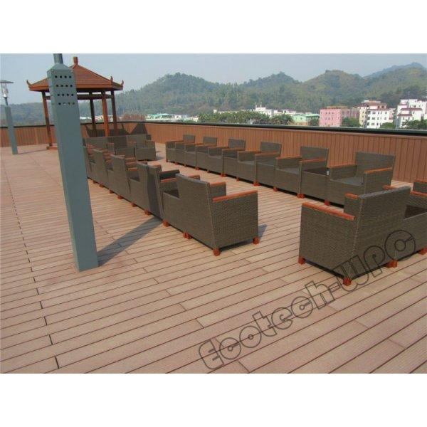 Decking en bois synthétique du plancher WPC