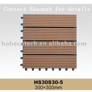 Bois plastique composite deck tuiles/emboîtement carrelage- uneinstallation facile