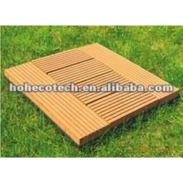 Cubierta de teja wpc/diy azulejo/compuesto plástico de madera decking azulejos