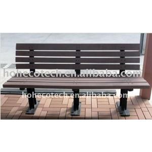 2011 nuevo material a prueba de agua wpc banco de madera/madera banco compuesto para el parque/jardín