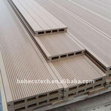 Plancher extérieur de wpc composé composé en plastique en bois de wpc de decking de wpc de qualité/de Decking panneaux de plancher