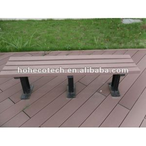 Recycling Wood Plastic composite wpc outdoor wooden bench/leisure chair/garden bench