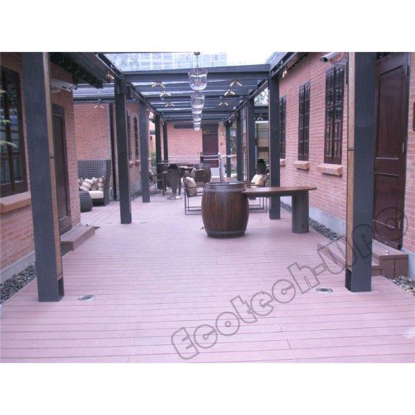 decking en bois synthétique de wpc de plancher