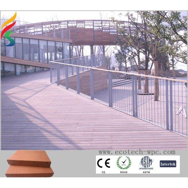 Recyclingim freien wpc-decking 140x20mm