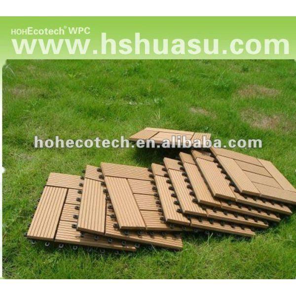 Eco - ambiente terrazas azulejo de piso/compuesto plástico de madera sauna junta/eco - de plástico de madera bricolaje decking del wpc azulejo