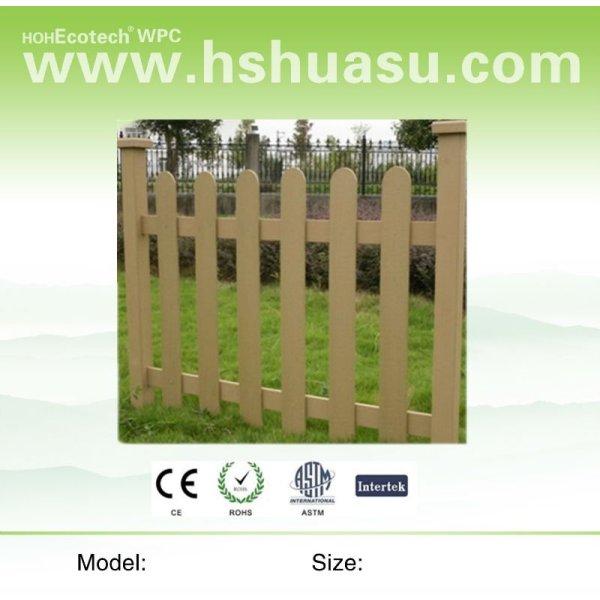 clôture de wpc de jardin