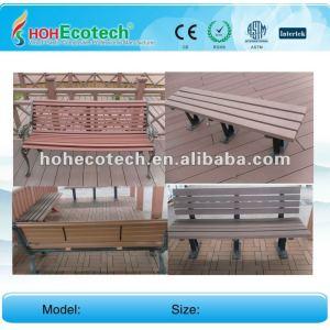 Compuesto plástico de madera wpc al aire libre de ocio producto/silla de plástico/banco de madera