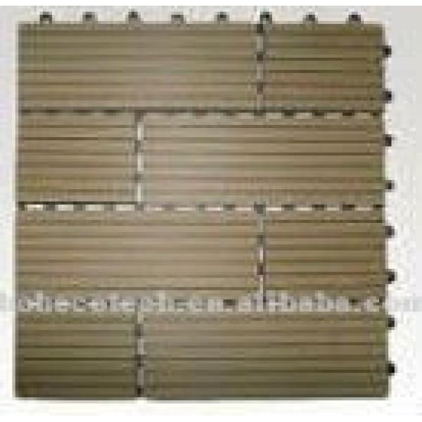 Grooved installalion fácil diy wpc azulejo/suelo