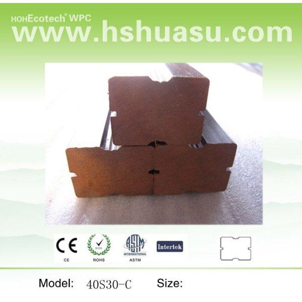 compuesto plástico de madera de las vigas