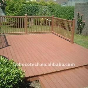 Decking de wpc public de construction decking/en bois/bois de construction composés en plastique en bois extérieurs de plancher