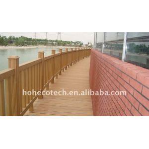 Non-paint, weatherproof , Fire retardant , UV resistant wpc fencing wpc fence wpc composite garden fence bridge railing