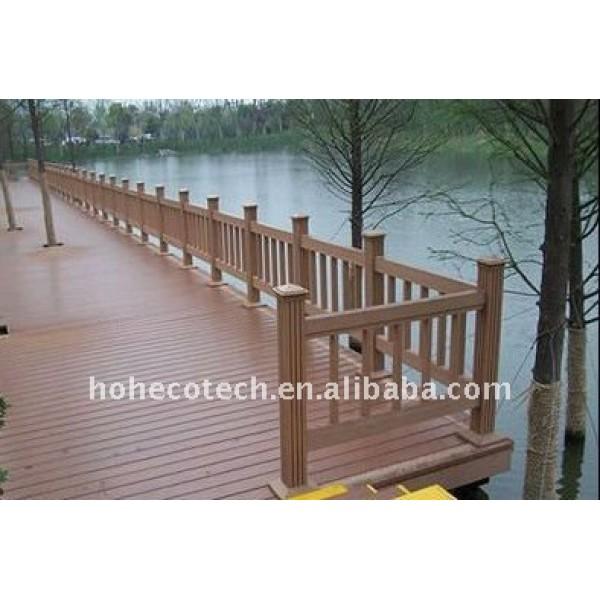 La bienvenida a! Puente de wpc barandilla a prueba de agua el puente de barandilla de madera compuesto plástico de barandilla de la escalera
