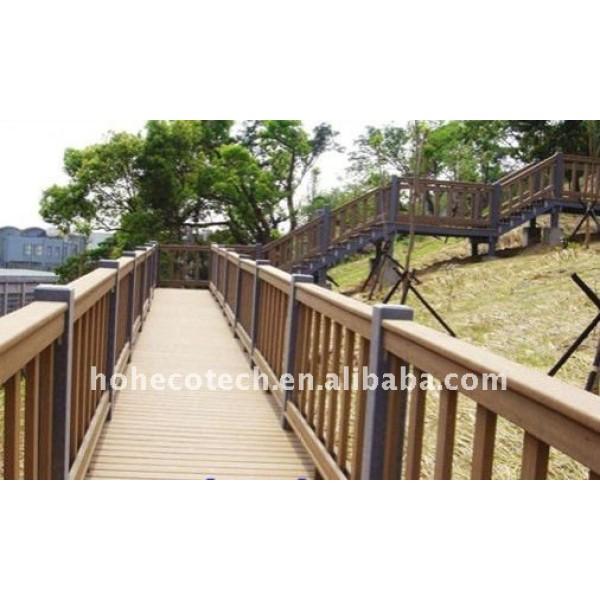 disegno del pozzo ponte wpc impermeabile corrimano ringhiera ponte in legno composito di plastica ringhiera delle scale