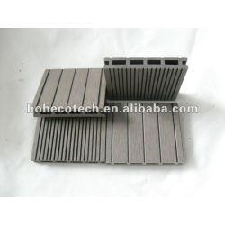 Wpc wood plastic composite decking/pisos 100x17mm ( ce, rohs, astm, iso 9001, iso 14001, intertek ) wpc decking composto