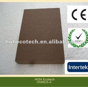 Decking plein de wpc respectueux de l'environnement chaud durable de vente (preuve de l'eau, résistance UV, résistance à se décomposer et fente)