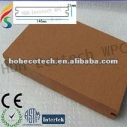 Imperméable à l'eau decking de wpc platelage composite matériau populaire