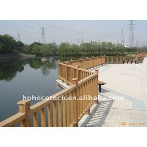 escalier de CONCEPTION de wpc de pont de balustrade de balustrade imperméable à l'eau bonne de pont/balustrade composés en plastique en bois de plate-forme