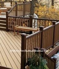 Decking composé en plastique en bois de tuile de decking de plancher en bois élégant de nature/bois de construction en bois composé wpc de plancher