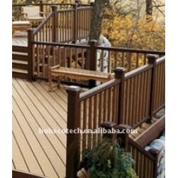 Eleganter hölzerner Bodenbelag der Natur hölzerner zusammengesetzter Decking-Fliese Plastikdecking/Bodenbelag wpc zusammengesetztes hölzernes Bauholz